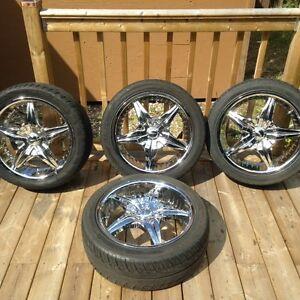 "18"" mag wheels Acura /Honda 2, 5 bolt patterns universal fit"