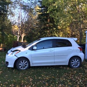 TOTALLED 2009 Toyota Yaris Hatchback (Sports Package)