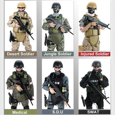 1/6 Soldier Combat Game SWAT Uniform Military Army Suit 12'' Figure Set Model (Swat Uniform)