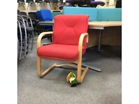 Red Reception Chairs - Set of 4