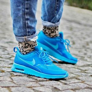 Nike Womens Air Max Thea-Clearwater/Light Blue Lacquer- Size7.5
