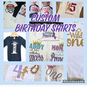 Customized Birthday & Specialty Shirts, Baby Onesies & Souviners