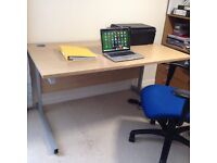 Large study office desk and chair