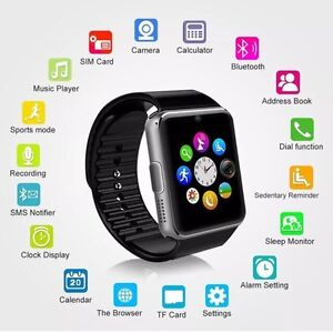 SMART WATCH FOR IPHONE SAMSUNG BLUETOOTH SIM SLOT CALL APPS Hallam Casey Area Preview