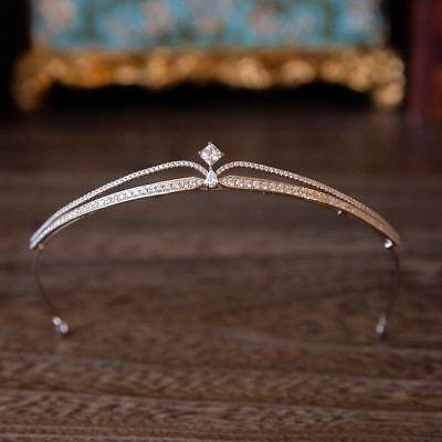 Tiara Cristal Estrás de Pelo Concursos Belleza Pearl Diadema Corona Boda Novia