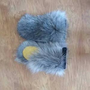 Men's Lined Wolf Mitts