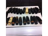 sax and clarinet mouthpieces.