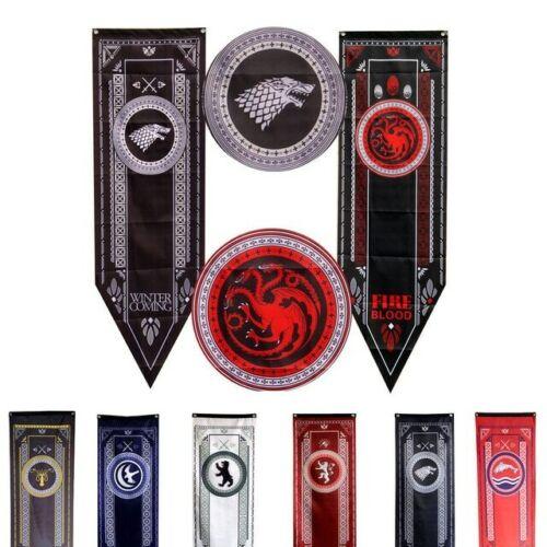 Game Of Thrones Banner Flag House of Stark Targaryen Lannister Tully Baratheon