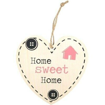 Home Sweet Home Hanging Heart Sign Plaque Valentines Mothers Day Gift Idea UK