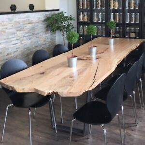 Reclaimed Wood Live Edge Slab Desks & Boardroom Tables