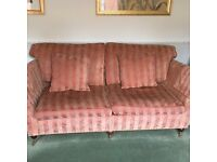 Two quality Barker and Stonehouse sofas and a pouffe/stool. Selling separate or together.