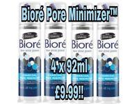 X4 Bioré charcoal pore minimiser 92ml brand new not L'Oréal garnier face wash palmers cocoa butter