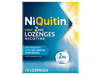 NIQUITIN/nicotine 72 LOZENGES-unopened pack-from a smoke&pet free house