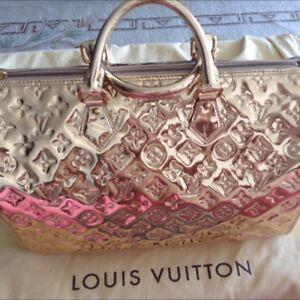 Authentic Louis Vuitton 35 Miror Gold Speedy