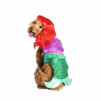 Dog Mermaid Costume (Little Mermaid 2 Piece Halloween Dog Pet Costume Small (New with)