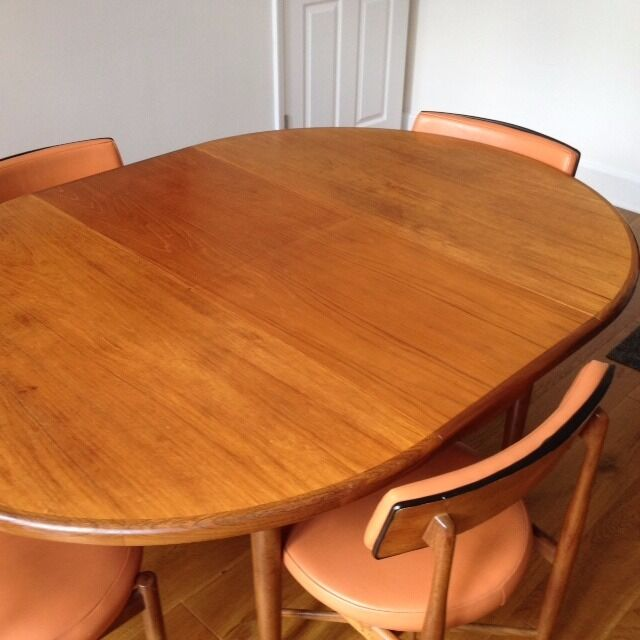 round extendable g plan wooden dining table 4 chairs in brighton