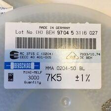 1000pcs resistor 121K ohm minimelf 50ppm 1/% 0.4W MMA020450BO 121K BEYSCHLAG