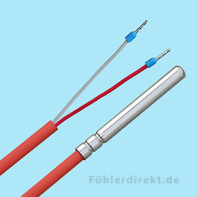KTY81-210 Temperaturfühler 2 Meter SIL Kesselfühler Speicherfühler KTY Fühler 2m