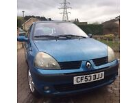 Renault Clio dynamic 1.2 2003 53 plate low miles 57000 HPICLEAR cheap tax cheap insurance £500 ONO