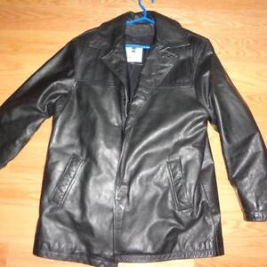 Men Winter or Fall Genuine Leather Jacket