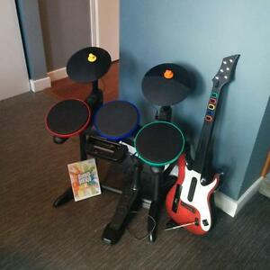 Band Hero for Wii - Guitar, Drum Set, Microphone and Game Disk