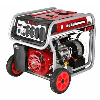 A-iPower 12,000W Gasoline Powered Portable Generator w/ Electric Start SUA12000E