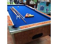 6ft x 3ft Slate bed pool table