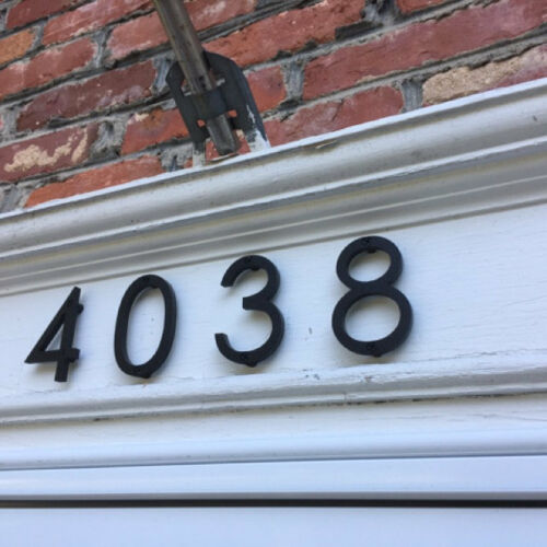 5 inch Modern House Address Numbers Letters, color choices