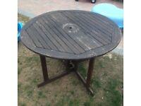 Large folding heavy garden table