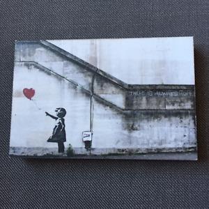 Banksy 4x6 wood block print