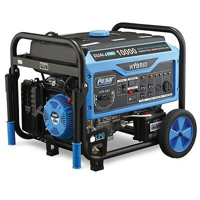 Pulsar 10000W Dual Fuel Gas/Propane Generator w/ Electric Start PG10000B