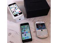2 X MOBILE PHONE JOB LOT APPLE IPHONE BLACKBERRY
