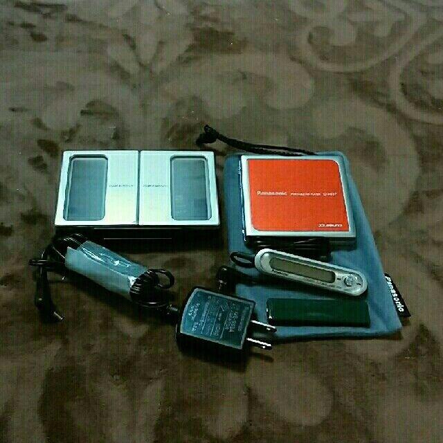 Panasonic SJ-MJ57 w/ Speaker/battery charger MiniDisc MD player used JAPAN