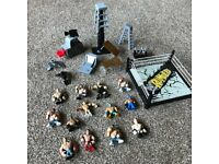 WWE Wrestlers Rumblers Bundle - 13 Figures - Ring - Ladder-Launchers - Accessories