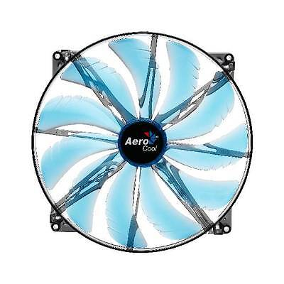 New AeroCool Silent Master 200mm Blue LED Case Fan