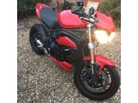Stunning Triumph Speed Triple 64 Plate in Red