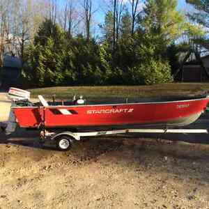 16ft Starcraft 35 hp Johnson will trade for fuel efficient car