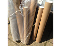 9 heavy duty postal tubes (7 Large and 2 smaller)
