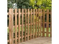 4ft (1220mm) high round top palisade fencing (5 panels)