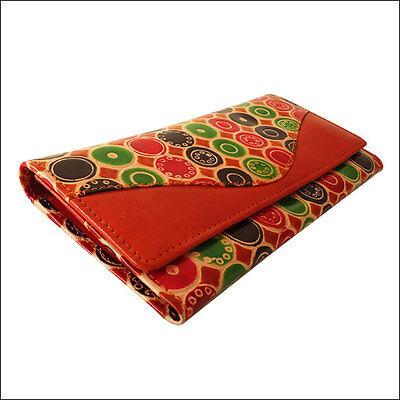 Leather India Shantiniketan Clutch Bag Womens Wallet Purse Handmade Painted