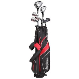 NEW 2018 MacGregor Mens Red and Black CG2000 Stand Bag Package 1/2 Set RH