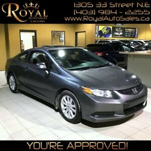 2012 Honda Civic EX w/ POWER MOONROOF, BLUETOOTH,
