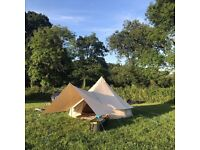 4 Mtr fireproof Bell Tent, includes Extra accessories from BelltentBoutique