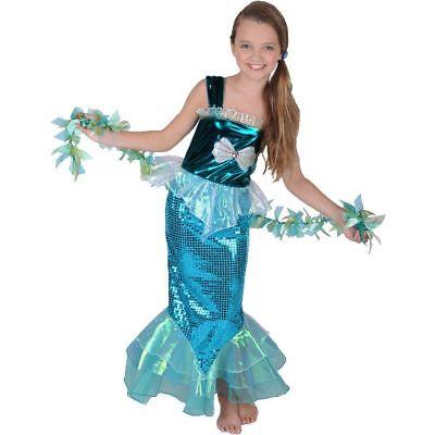 Mermaid Girl 2 Piece Halloween Costume Medium 8-10 (New with Tags)