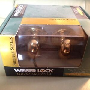 Solid Brass Weiser Passage Sets x 3  - Never Used