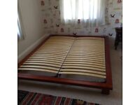 Super King size low bed base. Perfect condition.