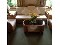 Rattan Sofa and chairs set with coffee table, good quality, made in Thailand.