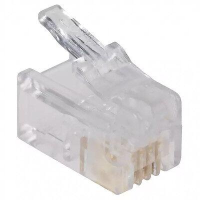 - AMP 5-641334-3 Modular Handset  Plug 100pk