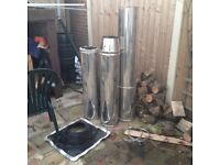 stainless flu pipe for solid fuel