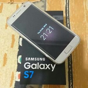 New Samsung s7 with case and tempered glass screen protector.